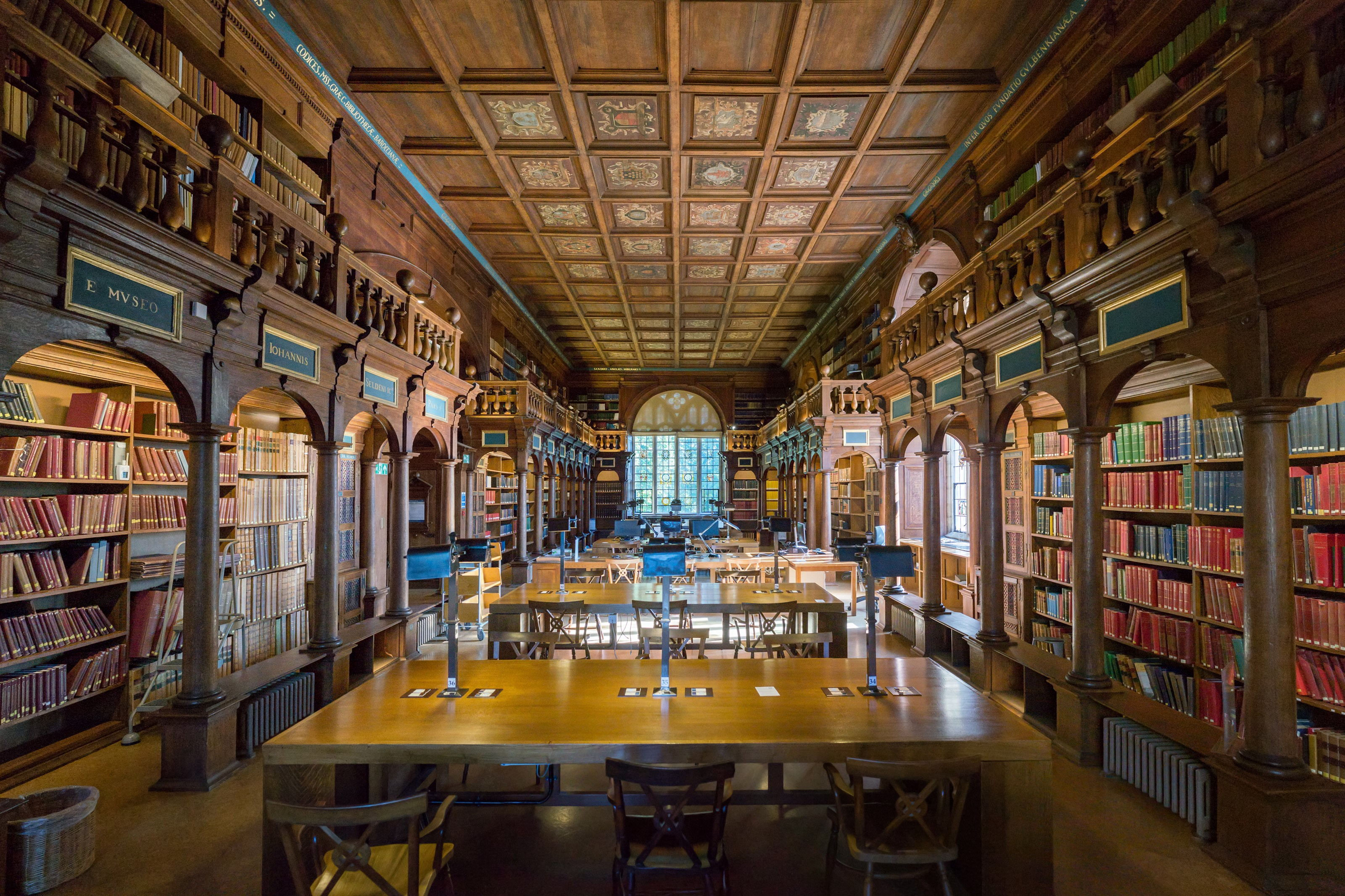 Inside the Bodleian at Oxford's Library